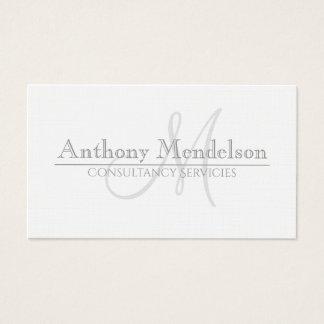 Plain minimal classic business card