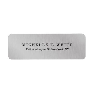 Plain Modern Minimalist Grey Creative Return Address Label