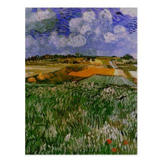 Plain Near Auvers, Van Gogh Fine Art Postcard