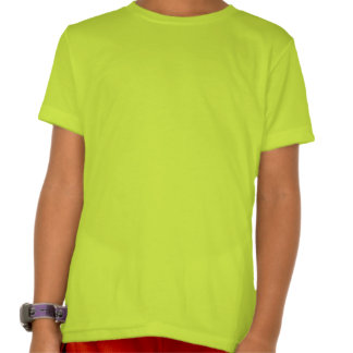 Plain Neon Yellow Kids' American Apparel T-shirt