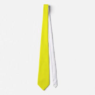 Plain Neon Yellow Necktie