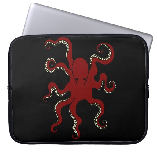 Plain Octopus Laptop Sleeve