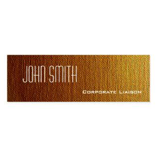 Plain Orange Canvas Slim Modern Business Cards Business Card