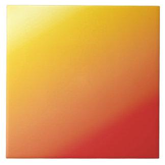 Plain Orange Gold Red Shade Large Square Tile