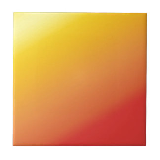 Plain Orange Gold Red Shade Small Square Tile
