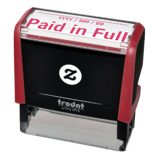 "Plain ""Paid in Full"" Rubber Stamp"