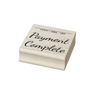 """Plain """"Payment Complete"""" Rubber Stamp"""