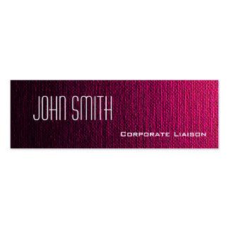 Plain Pink Canvas Slim Modern Business Cards Business Card Template