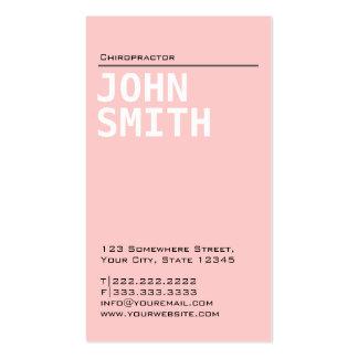 Plain Pink Chiropractor Business Card