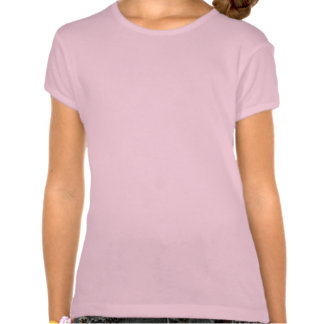 Plain pink fitted baby doll t-shirt for girls