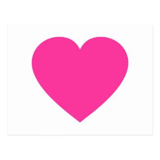 Plain Pink Heart Postcard