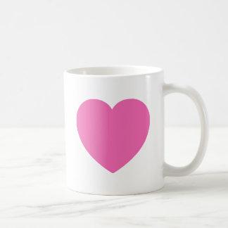 Plain Pink Sweet Heart Coffee Mug
