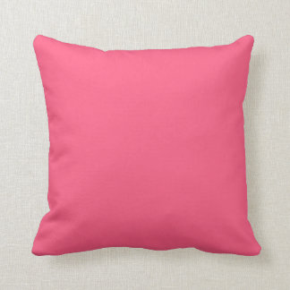Plain Pink Throw Pillow