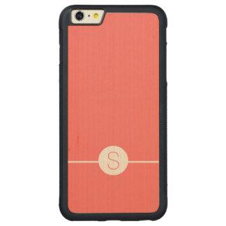 Plain Pink White Monogram - Minimal iOS 8 Style