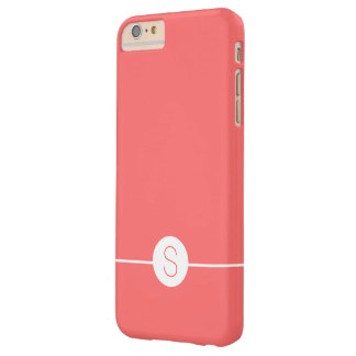 Plain Pink White Monogram - Minimal iOS 8 Style Barely There iPhone 6 Plus Case