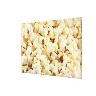 Plain popcorn close up. canvas prints