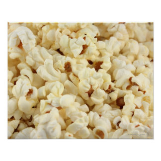 Plain popcorn close up. poster