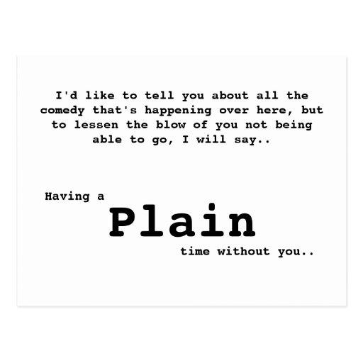 Plain postcard