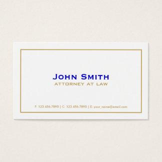 Plain Professional Elegant Attorney Simple White