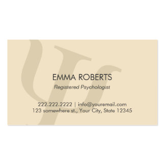 Plain Professional Psychologist Appointment Pack Of Standard Business Cards