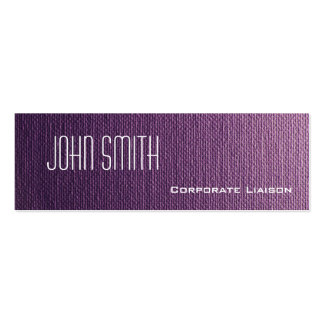 Plain Purple Canvas Slim Modern Business Cards Business Cards