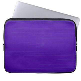 Plain Purple Indigo Background Laptop Sleeve