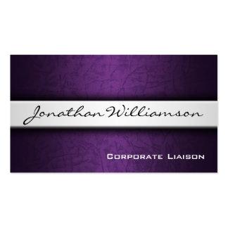 Plain Purple Modern Professional Business Card
