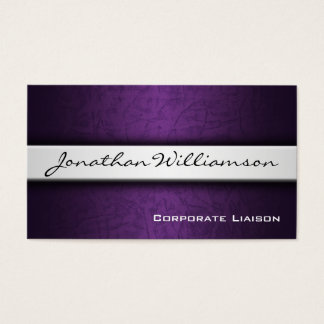 Plain Purple Modern Professional Business Card