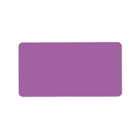Plain purple solid background blank A664A5 Address Label