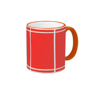 Plain RED : Buy BLANK or Add TEXT n IMAGE lowprice Coffee Mugs