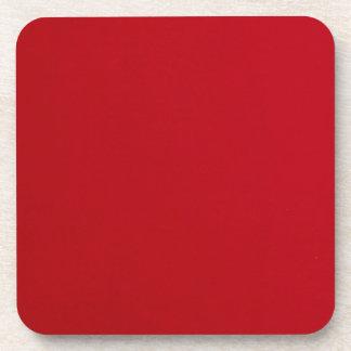 Plain Red Color Coaster