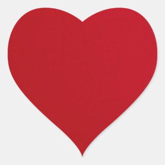 Plain Red Color Heart Sticker