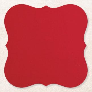 Plain Red Color Paper Coaster