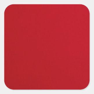 Plain Red Color Square Sticker