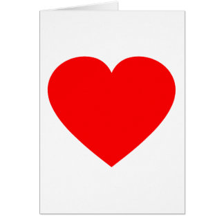 Plain Red Heart Greeting Card