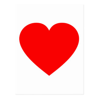Plain Red Heart Postcard