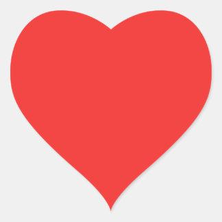Plain RED PINK PURPLE shades Heart Sticker