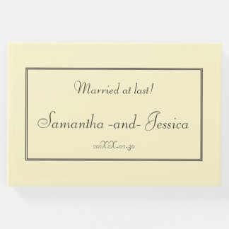 Plain, Respectable Wedding Party Guestbook