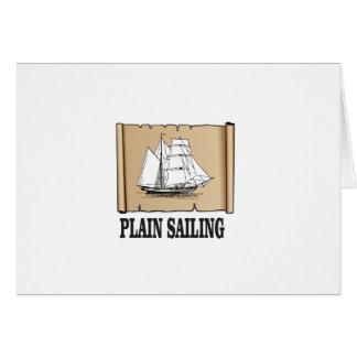 plain sailing boat card
