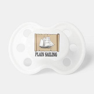 plain sailing boat pacifier