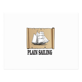 plain sailing boat postcard