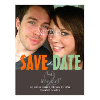 Plain, Save the Date Photo postcards,