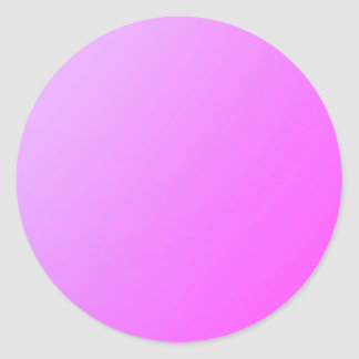Plain Shade Pink: Write on or add image Classic Round Sticker