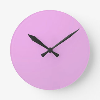 Plain Shade Pink: Write on or add image Round Clock
