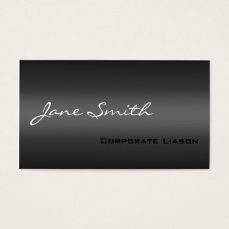 Plain Shades of Grey Professional Business Card