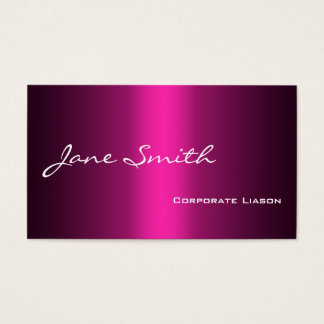Plain Shades of Pink Professional Business Cards