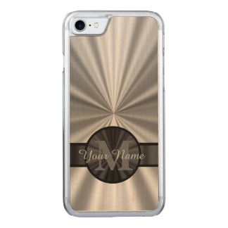 Plain silver monogram carved iPhone 7 case