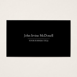 Plain & Simple Black Business Card