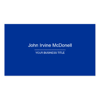 Plain & Simple Blue & Red Business Card