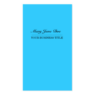 Plain & Simple Bright Blue Vertical Business Card